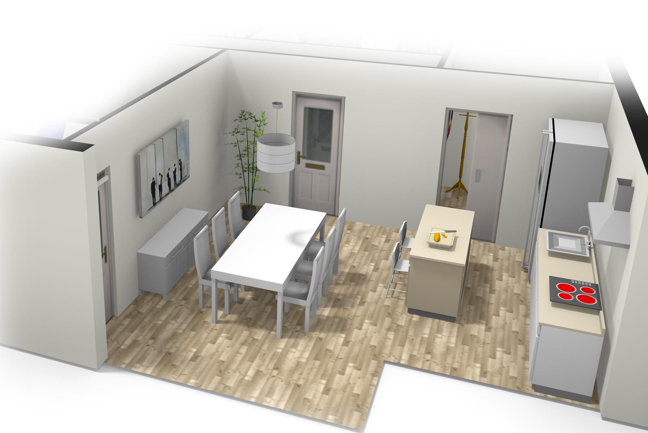 Plano en 3d gallery of plano d isomtrico resumen de casa for Oficina veterinaria virtual